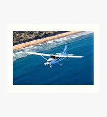 Cessna Cruising - Clifton Beach, Tasmania Art Print