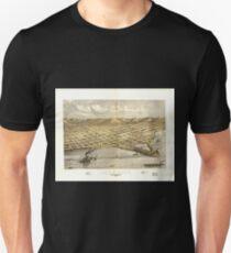 Panoramic Maps Lake City Wabasha Co Minnesota 1867 Unisex T-Shirt