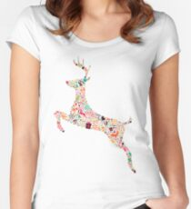 Christmas Reindeer 3 Women's Fitted Scoop T-Shirt