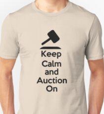 Keep Calm - Auction Unisex T-Shirt