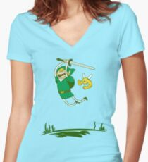 A Hero Women's Fitted V-Neck T-Shirt