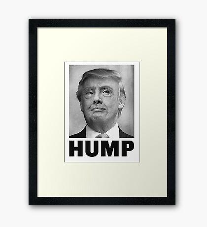 HUMP HILLARY TRUMP Morph Framed Print