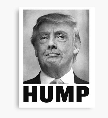 HUMP HILLARY TRUMP Morph Canvas Print
