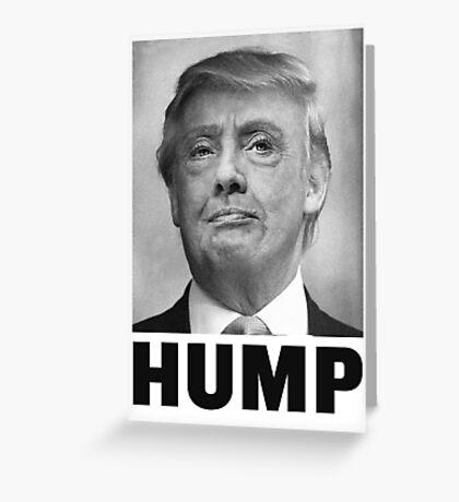 HUMP HILLARY TRUMP Morph Greeting Card
