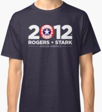 Vote Rogers & Stark 2012 (White Text) Classic T-Shirt