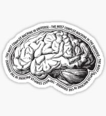 Brain. The Most Complex Machine in the Universe. Sticker