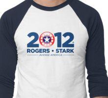 Vote Rogers & Stark 2012 (Blue Text) Men's Baseball ¾ T-Shirt