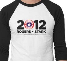 Vote Rogers & Stark 2012 (Black Text) Men's Baseball ¾ T-Shirt