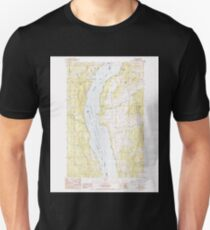 USGS Topo Map Washington State WA Rice 243437 1985 24000 T-Shirt