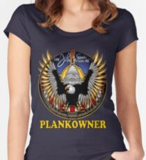 SSN-785 Plank Owner Logo for Dark Colors Women's Fitted Scoop T-Shirt