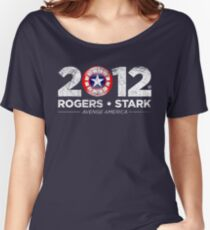 Vote Rogers & Stark 2012 (White Vintage) Women's Relaxed Fit T-Shirt