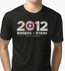 Vote Rogers & Stark 2012 (White Vintage) Tri-blend T-Shirt