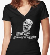 Zombie Bath Salts Women's Fitted V-Neck T-Shirt