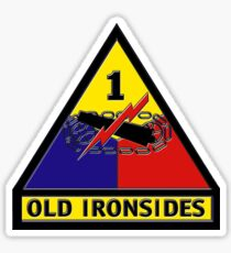 1st Armored Division Crest Sticker