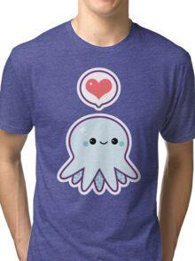 Cute Blue Octopus Tri-blend T-Shirt