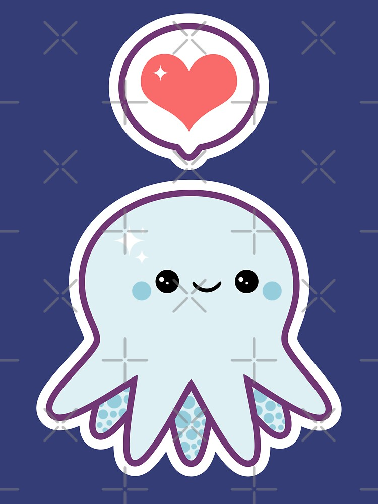 Cute Blue Octopus by sugarhai