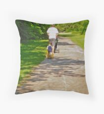 Following in Dad's Footsteps Throw Pillow