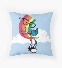 Reading Rainbow Throw Pillow
