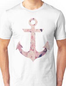 Flowered Anchor Unisex T-Shirt
