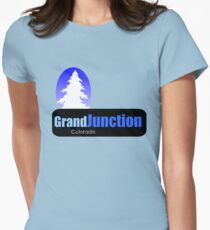 grand junction Colorado t shirt truck stop novelty Women's Fitted T-Shirt