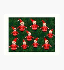 """Swedish Gnome Troll Santa Elves""© Art Print"