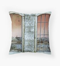 Old toilet in Lucolena - Toscana Throw Pillow