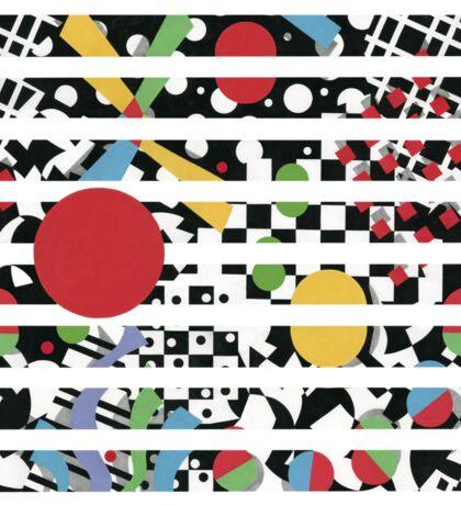 Ticker Tape Geometric Design Sticker