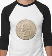 US one Quarter Dollar coin (25 cents) isolated on white background  T-Shirt