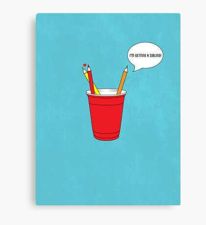 Get a Cup You Two ! Canvas Print