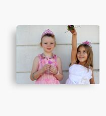 The two little princesses Canvas Print