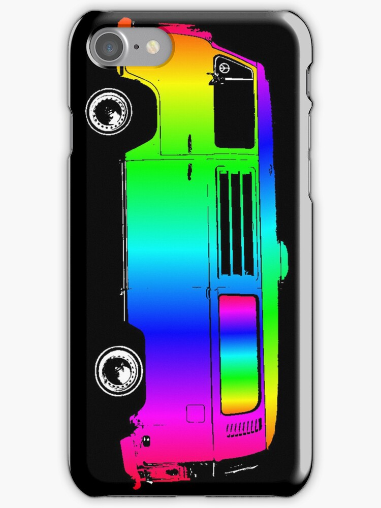 VW Van in Rainbow Colors by vvfineartphotog