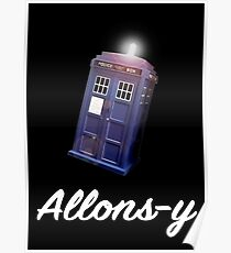 """""""Allons-y!"""" Public Call Box. Poster"""