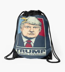 We Shall Overcomb Donald Trump Drawstring Bag