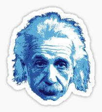 Albert Einstein - Theoretical Physicist - Blue Sticker