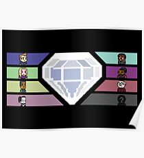Pixel White Diamond | Community Poster