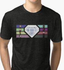 Pixel White Diamond | Community Tri-blend T-Shirt