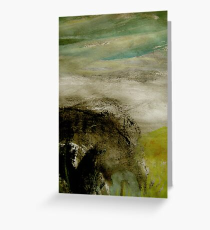 mist over the bluff Greeting Card