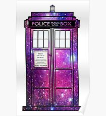 Starry Police Public Call Box. Poster