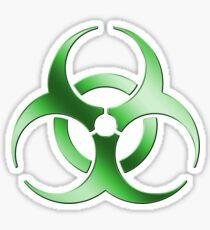 Biohazard Symbol Sign - Acid Green - Metallic Sticker
