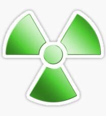 Radioactive Symbol Warning Sign - Radioactivity - Radiation - Green Sticker