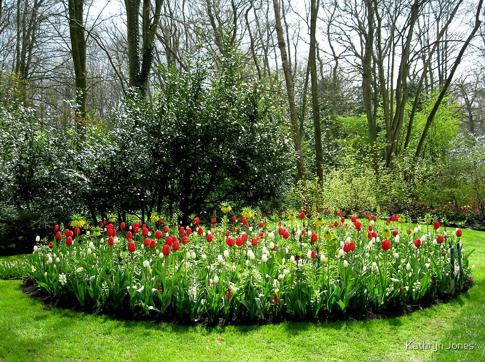Reds in the Bed - Tulips in the Keukenhof Gardens by Kathryn Jones