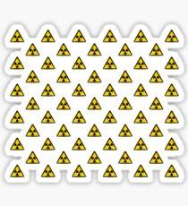 Radioactive Symbol Warning Sign - Radioactivity - Radiation - Yellow & Black - Triangular - Tiled Sticker