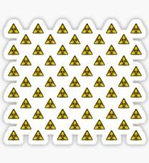 Biohazard Symbol Warning Sign - Yellow & Black - Triangular - Tiled Sticker