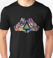 Camiseta unisex Trippy Illuminati Hands Diamond