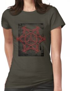 Electro mandala #2 Womens Fitted T-Shirt