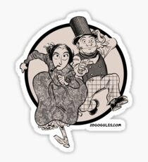 Lovelace and Babbage Leap Sticker