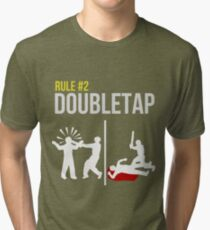 Zombie Survival Guide - Rule #2 - Doubletap Tri-blend T-Shirt