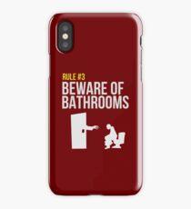 Zombie Survival Guide - Rule #3 - Beware of Bathrooms iPhone Case/Skin
