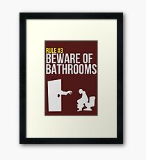 Zombie Survival Guide - Rule #3 - Beware of Bathrooms Framed Print