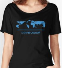 Retro BBC 1 Colour globe graphics Women's Relaxed Fit T-Shirt